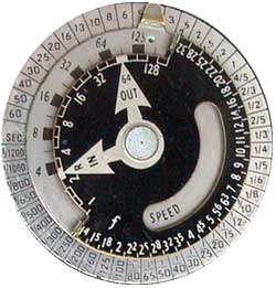 James's Light Meter Collection: Calculator Dial Comparison