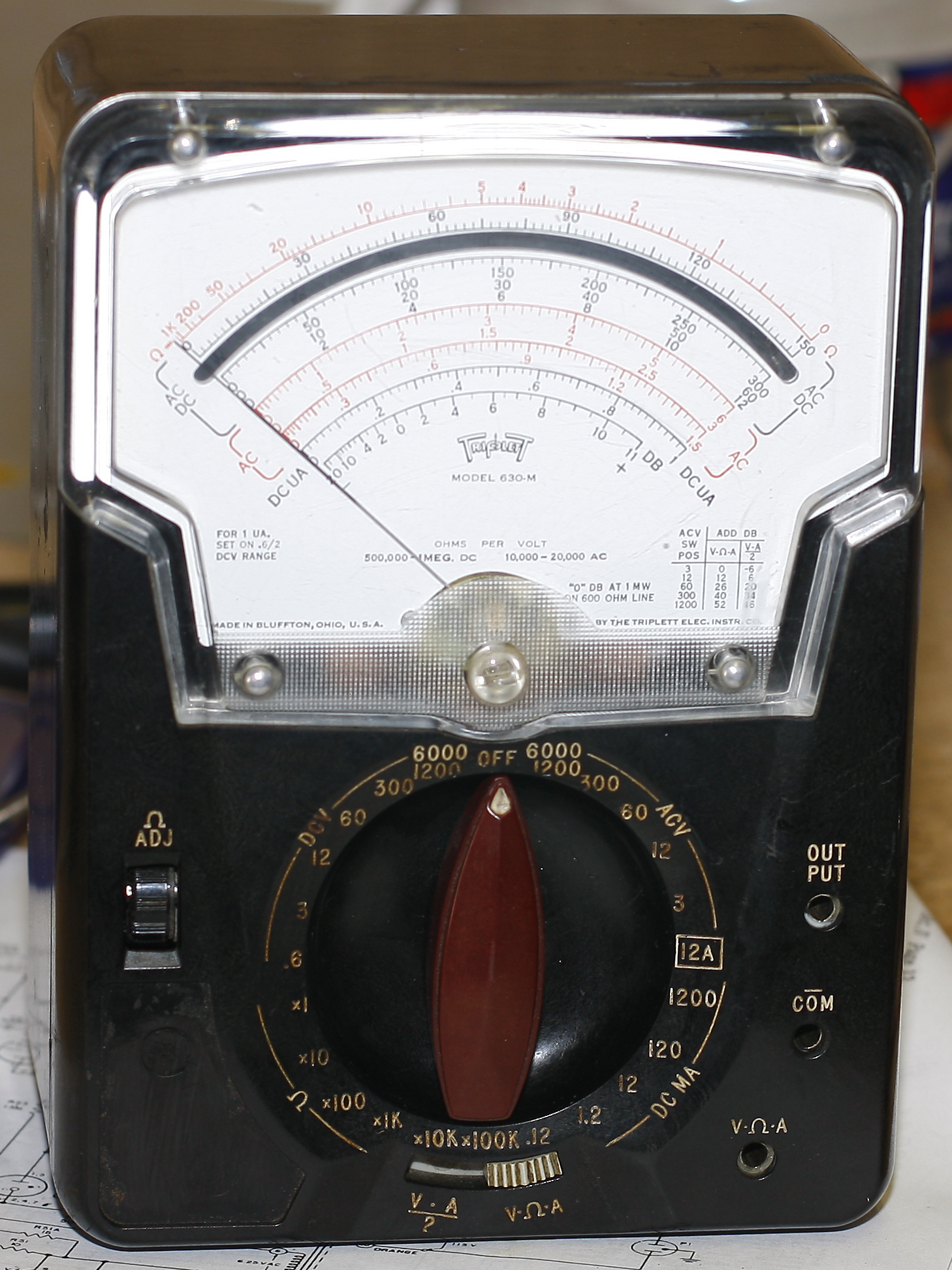 Triplett Analog Multimeter : Turn that damn thing off meters